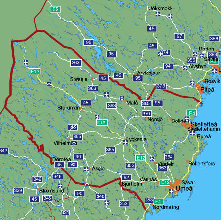 mapvasterbottenstadskartan